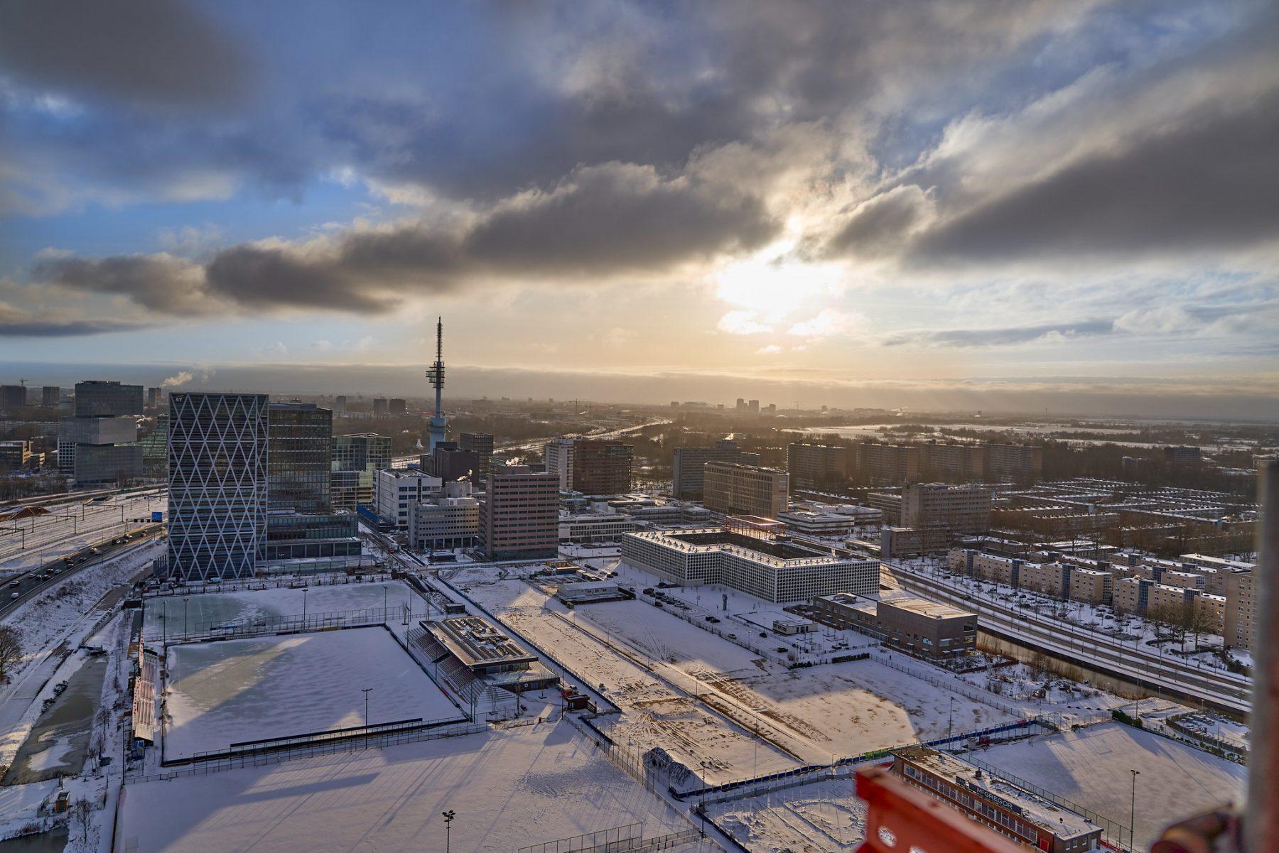 De locatie van de toekomstige woonbuurt Ravel, februari 2021